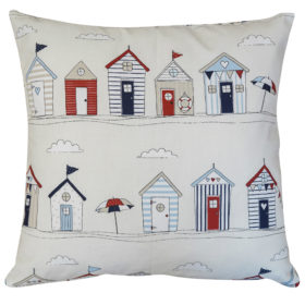 Beach Hut Print Cushion