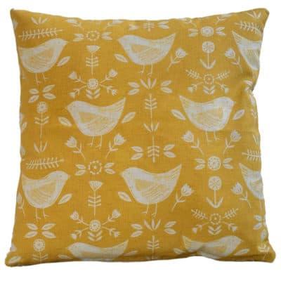 Scandi Geometric Birds Cushion