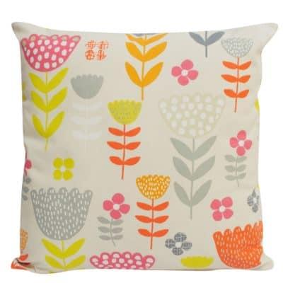 Jumbo Scandi Floral Cushion