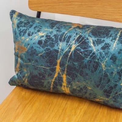 Metallic Marble Boudoir Cushion