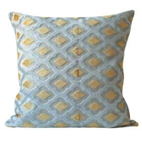 Extra-Large Aphrodite Cut Velvet Cushion in Ochre