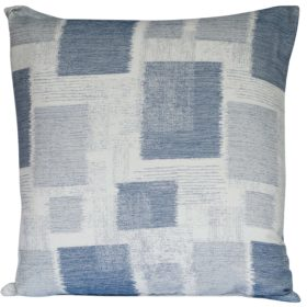 Extra-Large Patchwork Blocks Cushion in Blue