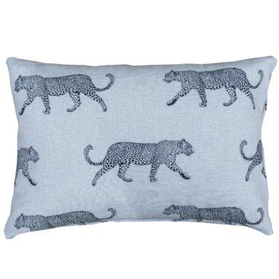 Leopard Stroll Boudoir Cushion in Tan