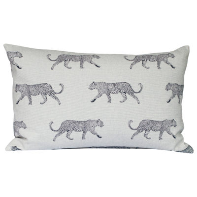 XL Leopard Stroll Rectangular Cushion in Tan