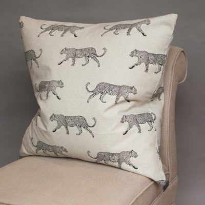 Extra-Large Leopard Stroll Cushion in Tan