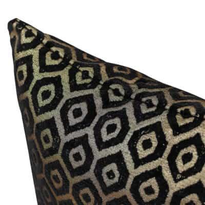 Diamant Metallic Chenille Cushion in Pewter