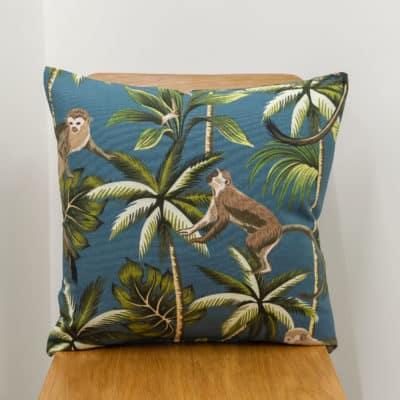Saimiri Monkey Cushion in Teal
