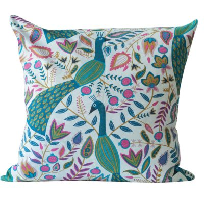 Extra-Large Quirky Peacock Print Cushion