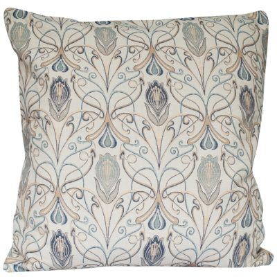 Extra-Large Millefleur Tapestry Style Cushion in Sapphire