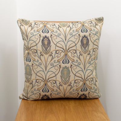 Millefleur Tapestry Style Cushion in Sapphire