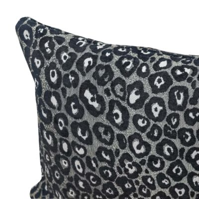 Panther Textured Boudoir Cushion in Silver