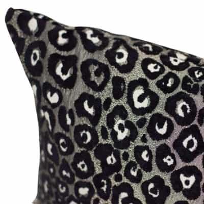 Panther Textured XL Rectangular Cushion in Silver