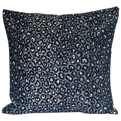 Extra-Large Panther Textured Cushion in Silver