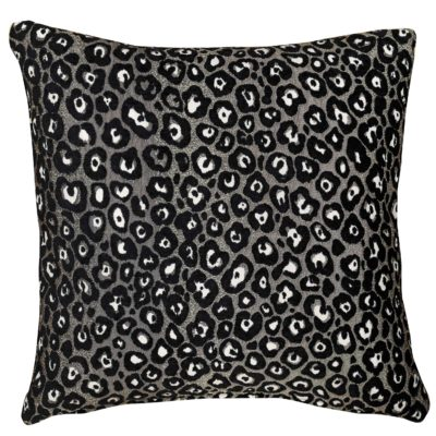 Panther Textured Cushion in Silver