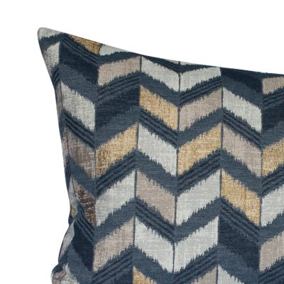 Luxe Chevron XL Rectangular Cushion in Black and Gold