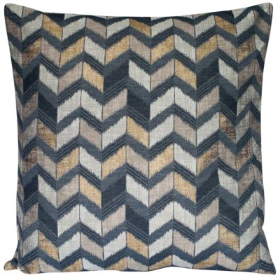 Luxe Chevron Extra-Large Cushion in Black and Gold