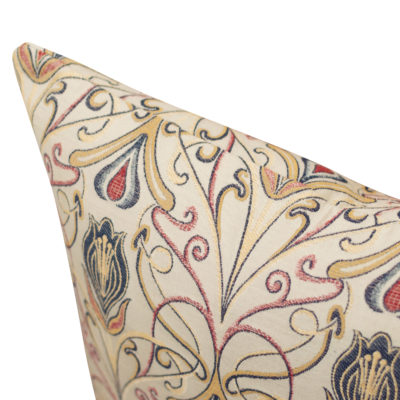 Millefleur Tapestry Style Cushion in Rouge