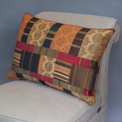 Moroccan Patchwork XL Rectangular Cushion in Terracotta