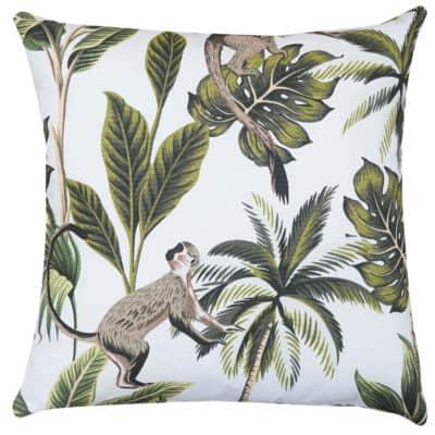 Saimiri Monkey Cushion in White