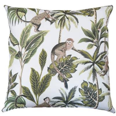 Saimiri Monkey Extra-Large Cushion in White