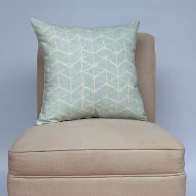 Astrid Trellis Cushion in Duck Egg Blue
