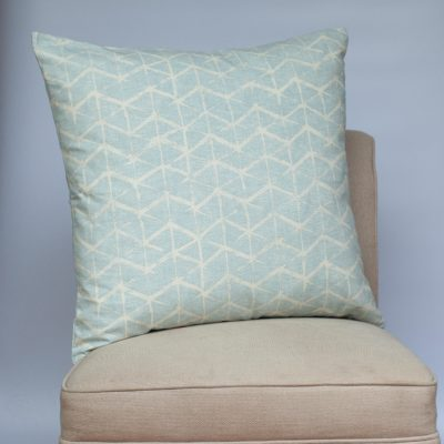 Astrid Trellis Extra-Large Cushion in Duck Egg Blue