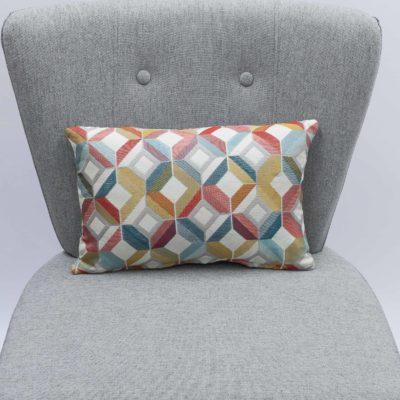Stella Multi Geometric Boudoir Cushion