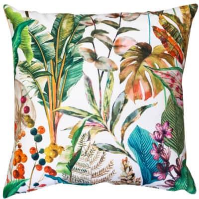 Borneo White Velvet Extra-Large Cushion