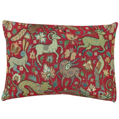 Mythical Animals Boudoir Cushion in Red