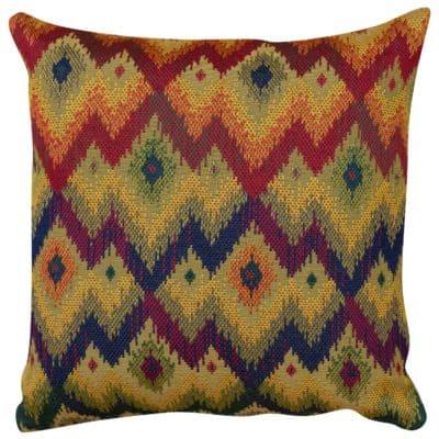 Large Scale Kilim Chevron Weave Cushion