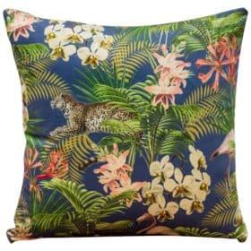 Tropical Flora Velvet Cushion