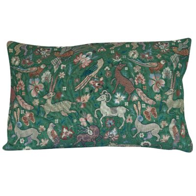 Mythical Animals XL Rectangular Cushion in Forest Green