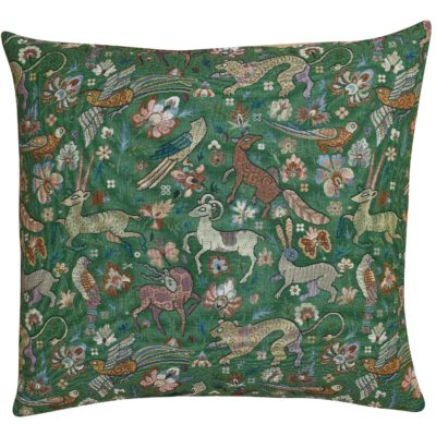 Mythical Animals Extra-Large Cushion in Forest Green