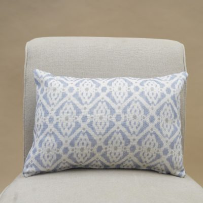 Santorini Linen Blend Boudoir Cushion in Soft Blue