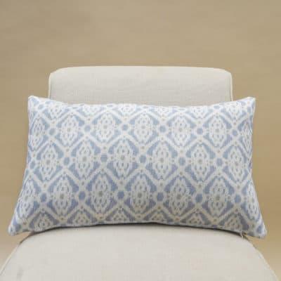 Santorini Linen Blend XL Rectangular Cushion in Soft Blue