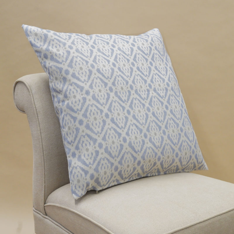 Santorini Linen Blend Extra-Large Cushion in Soft Blue