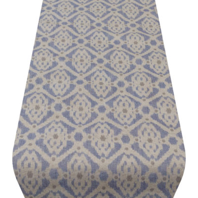 Dots and Diamonds Table Runner in Blue