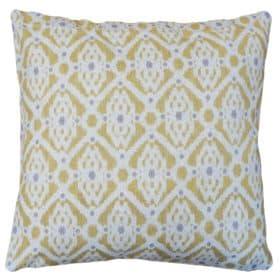 Santorini Linen Blend Cushion in Yellow