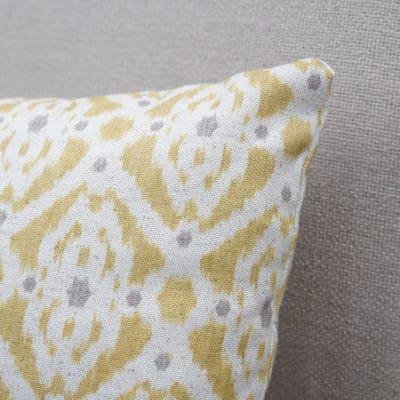Santorini Linen Blend Boudoir Cushion in Yellow