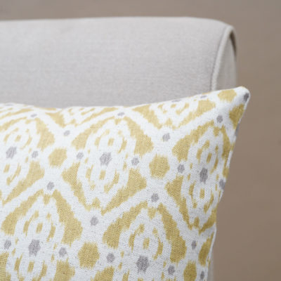Santorini Linen Blend XL Rectangular Cushion in Yellow