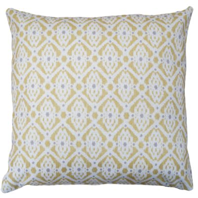 Santorini Linen Blend Extra-Large Cushion in Yellow