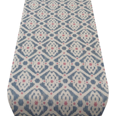 Dots and Diamonds Table Runner in Blue and Pink