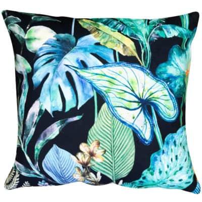 Borneo Black Velvet Cushion