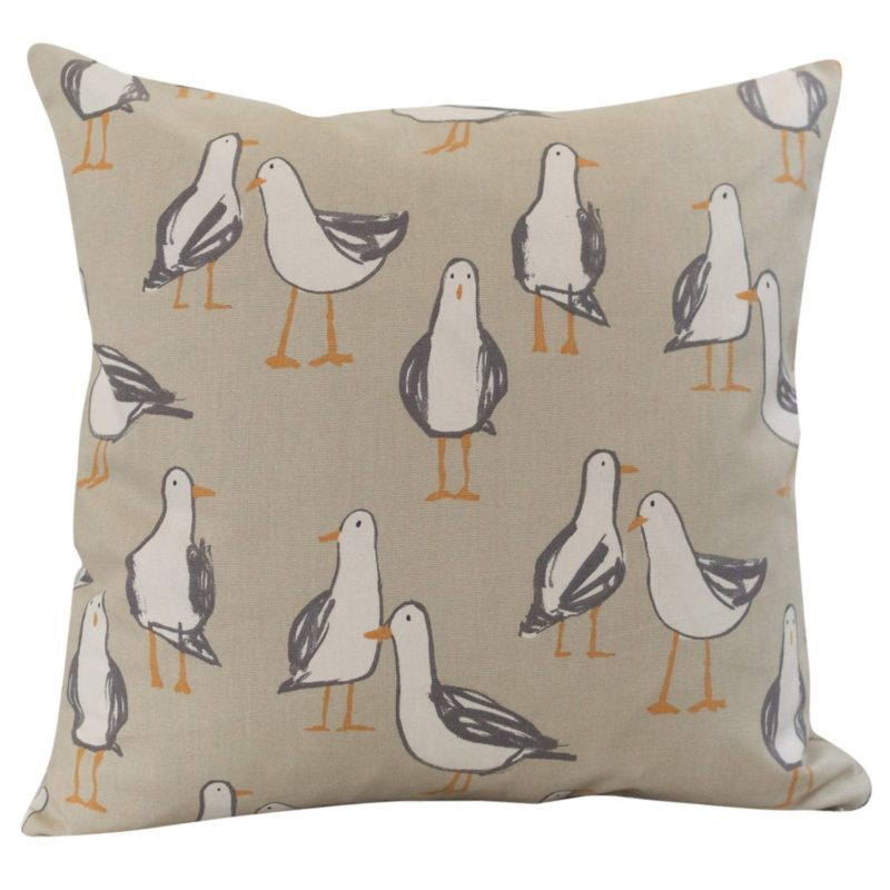 Seagull Cushion in Taupe