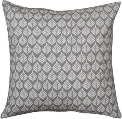 Extra Large Minimalist Scandi Leaf Cushion in Dove Grey