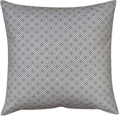 Extra Large Scandi Ikat Cushion in Dove Grey
