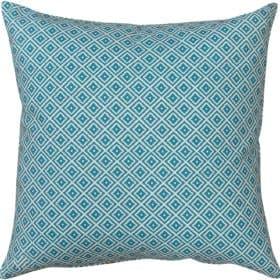 Extra Large Scandi Ikat Cushion in Turquoise