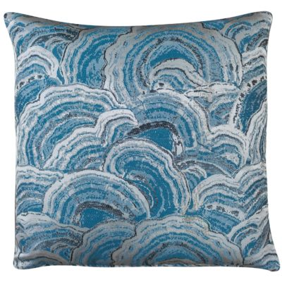Denim Blue Agate Crystal Cushion