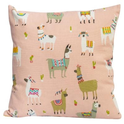 Alpaca Cushion in Bright Pink