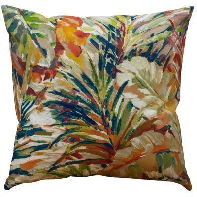 XL Painted Jungle Leaves Cushion